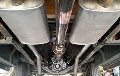 Custom exhaust system for '55 Chevy truck