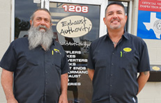 Jay and Tommy at the Exhaust Authority front door